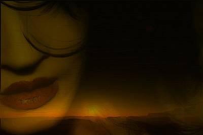 Desert Sunset Digital Art - Desert Kiss by Jon Palm