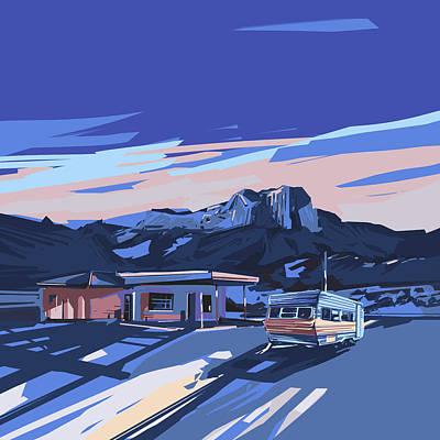 Digital Art - Desert Landscape 2 by Bekim Art