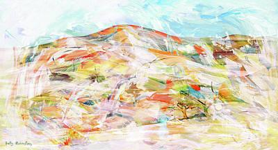 Mixed Media - Desert Landscape by Betty Rubinstein