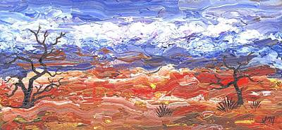 Abstract Landscape Painting - Desert Landscape Color by Linda Mears