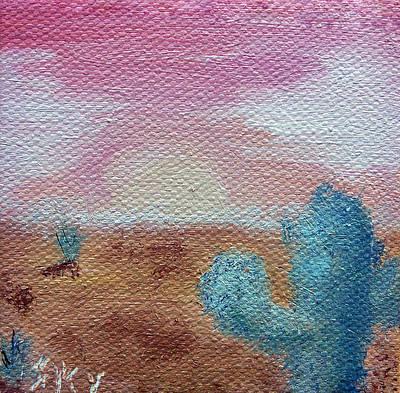 Desert Landscape Art Print by Jera Sky