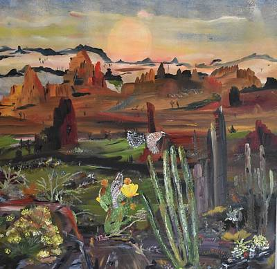 Painting - Desert Life by Susan Voidets