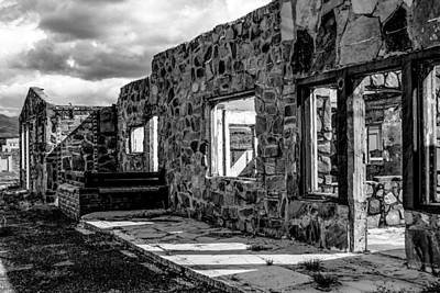 Photograph - Desert Lodge Bw by Bonnie Follett