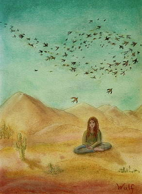 Painting - Desert Mantra by Bernadette Wulf