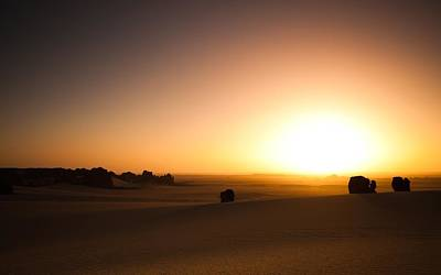 Sunset Digital Art - Desert by Maye Loeser