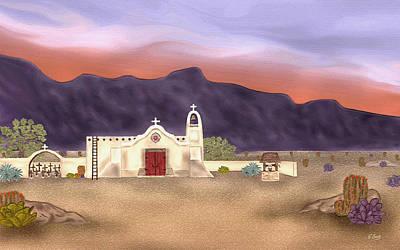 Desert Mission Art Print by Gordon Beck