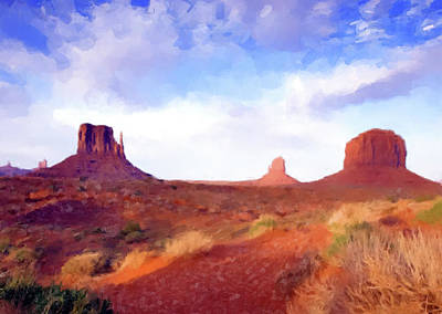 Painting - Desert Monuments by Gary Grayson