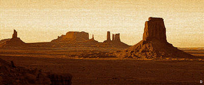 Photograph - Desert Monuments Pano Work A by David Lee Thompson