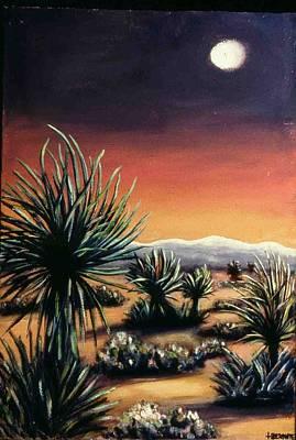 Desert Moon Art Print by Helen O Hara