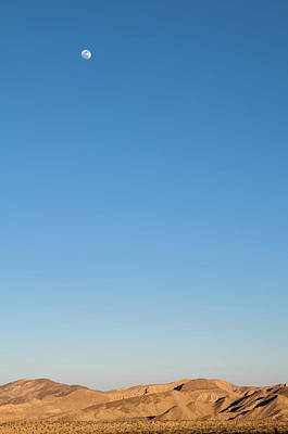Minimalist Photograph - Desert Moon by Joseph Smith