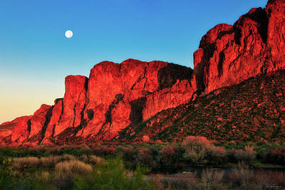 Photograph - Desert Moonrise by Rick Furmanek
