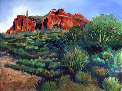 Desert Mountain Tapestry Print by Kent Looft