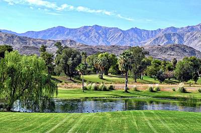 Photograph - Desert Mountains And Green Foliage by Kirsten Giving