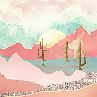 Desert Mountains Art Print