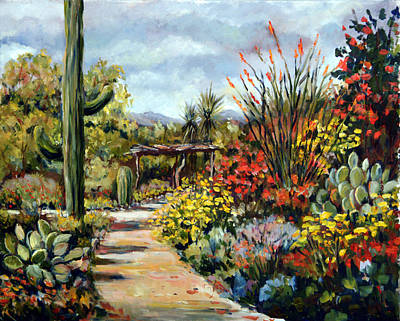 Desert Museum Garden Tucson Art Print by Alexandra Maria Ethlyn Cheshire
