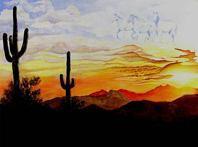 Painting - Desert Mustangs by Jimmy Smith