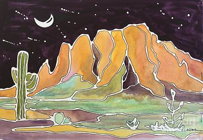 Painting - Desert Night by Barbara Tibbets