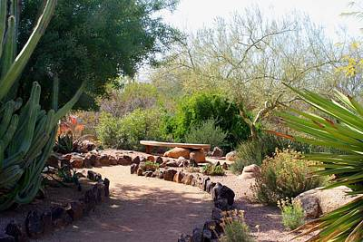 Photograph - Desert Nook With Bench 2 by Kathryn Meyer