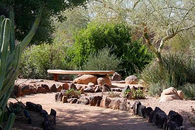 Photograph - Desert Nook With Bench by Kathryn Meyer