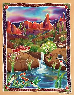 Kingfisher Painting - Desert Oasis by Harriet Peck Taylor