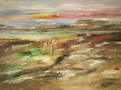 Desert Pass Art Print by Edward Wolverton