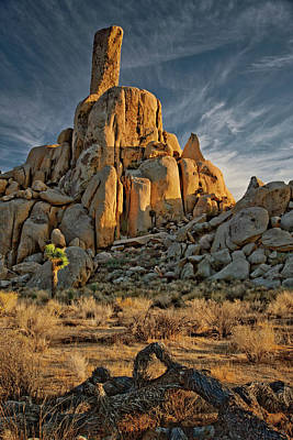 Photograph - Desert Pinnacle Impression by Ralph Nordstrom