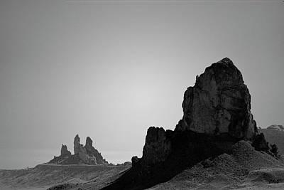 Photograph - Desert Pinnacles I Bw by David Gordon