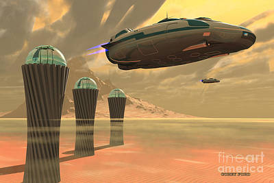 Jet Star Digital Art - Desert Planet by Corey Ford