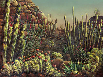 Painting - Desert Potpourri  by James Larkin