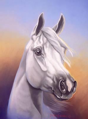Horse Art Pastels Painting - Desert Prince by Howard Dubois
