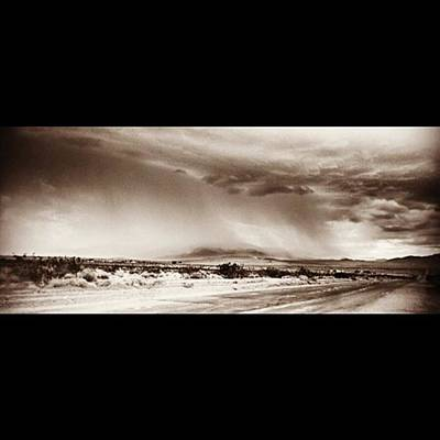 Desert Photograph - #desert #rain #storm In Southern by Alex Snay