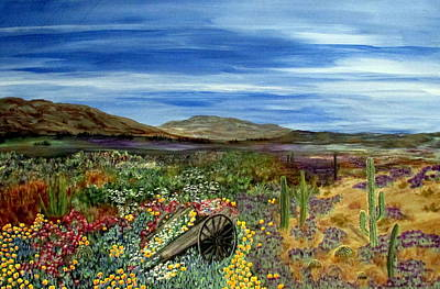 Painting - Desert Rainbow by Mary Arneson