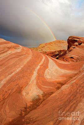 Photograph - Desert Rainbow by Mike Dawson