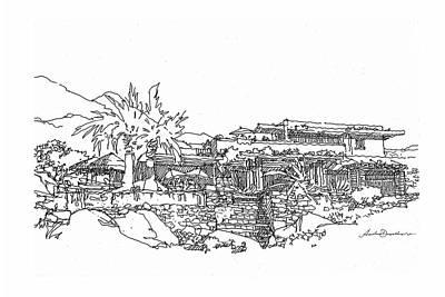 Desert Residence Art Print by Andrew Drozdowicz