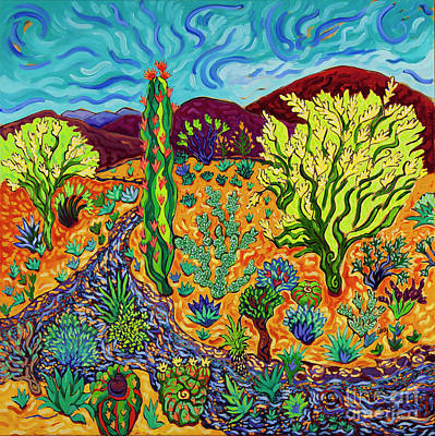 Painting - Desert River Bed  by Cathy Carey