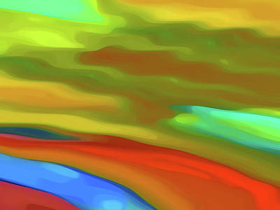 Digital Art - Desert River Rounds The Bend by Amy Vangsgard