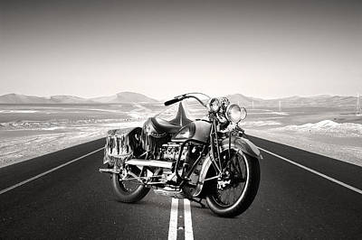 Indian Motorcycle Photograph - Desert Road Indian by Mark Rogan