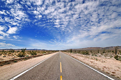 Photograph - Desert Road by Peter Tellone