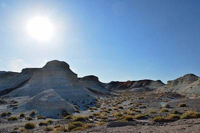 Photograph - Desert Rock Formation Landscape - Sun View by Matt Harang