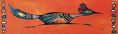 Roadrunner Mixed Media - Desert Sands Roadrunner by Debbie Horton