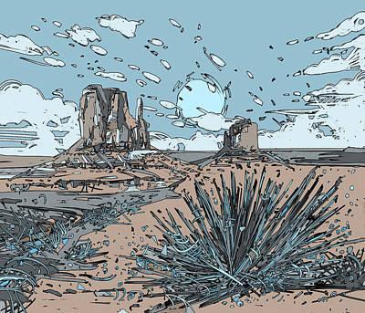 Grand Canyon Digital Art - Desert Scene by Bekim Art
