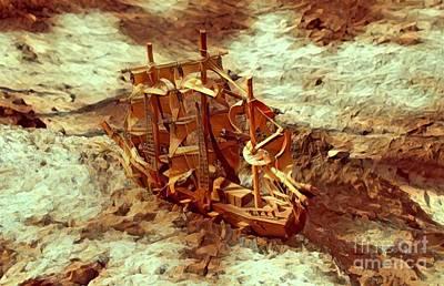 Robert Jensen Digital Art - Desert Ship by Robert Jensen