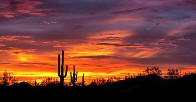 Photograph - Desert Skies On Fire  by Saija Lehtonen