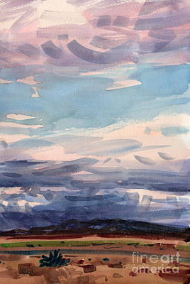 Skyscape Painting - Desert Skyscape by Donald Maier