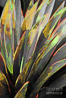 Desert Snake Plant, Yellow Art Print by Linda Parker