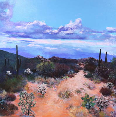Painting - Desert Solitude 2 by M Diane Bonaparte