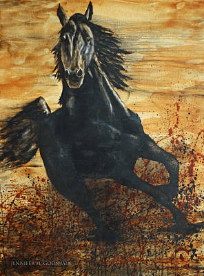 Painting - Desert Stallion by Jennifer Morrison Godshalk