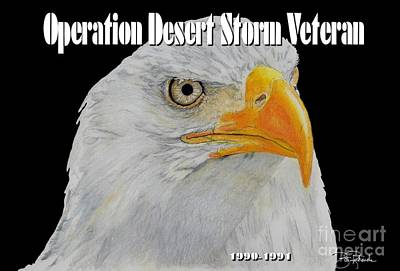 Desert Storm Eagle Art Print by Bill Richards