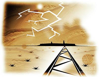 Digital Art - Desert Storm by Robert Ball