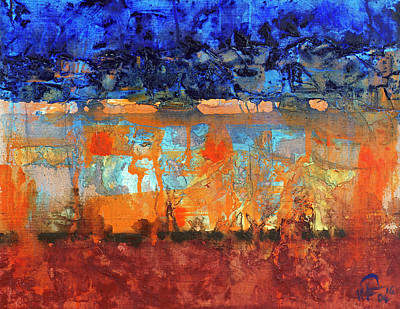 Painting - Desert Strata by Walter Fahmy